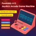 POWKIDDY A12 9 дюймов IPS аркадный джойстик игровой консоли 32 Гб 2000 игры проводной геймпад симулятор игровая видео приставка Портативный