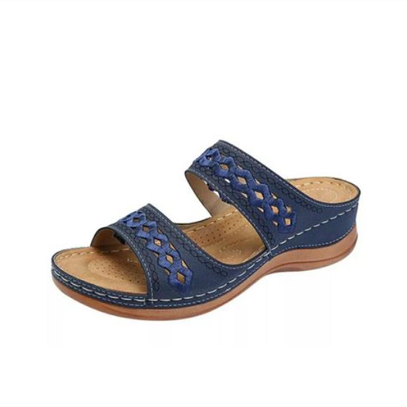 STS Women Sandals Summer Ladies Comfortable Round Toe Ankle Sandals Shoes Female Soft Sole Shoes Comfortable Plus Size 35 - 43