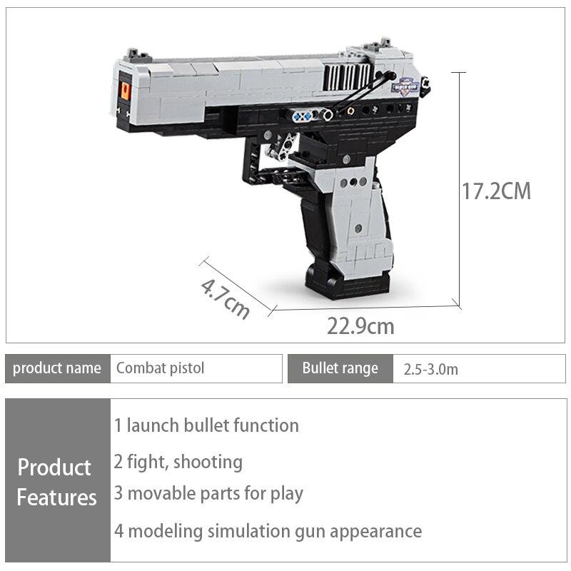 Cada C81007 C81008 C81009 Desert Eagle Pistol MK23 Pistol Uzi Submachine Gun
