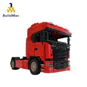 BuildMOC City Police NextGen SCANIA Truck Truck Building Blocks Sets Ship Vehicle Technic Bricks Playmobil Toys(China)