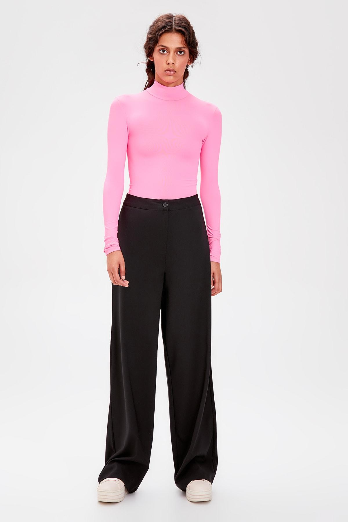 Trendyol Black Flare Pants TWOAW20PL0175