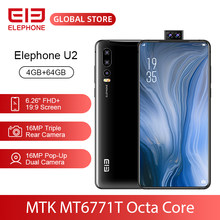 "ELEPHONE U2 MT6771T Octa Core 4GB 64GB Mobile Phone 16MP Pop-Up Dual Cam 6.26"" FHD+ Screen Face ID 4G LTE Android 9 Smartphone(China)"