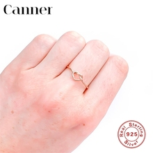 Engagement Rings for Women 925 sterling silver Simple Heart-shape Gold Silver color love knot Ring Fashion Wedding Band Jewelry vnox three tone mix color rings for women love hope faith wedding band ring