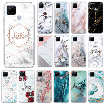 Marble Case For Oppo realme C15 4G Soft Silicone Back Cover For Oppo realmeC15 C 15 6.5 Phone Cases TPU Luxury Fundas Coque image