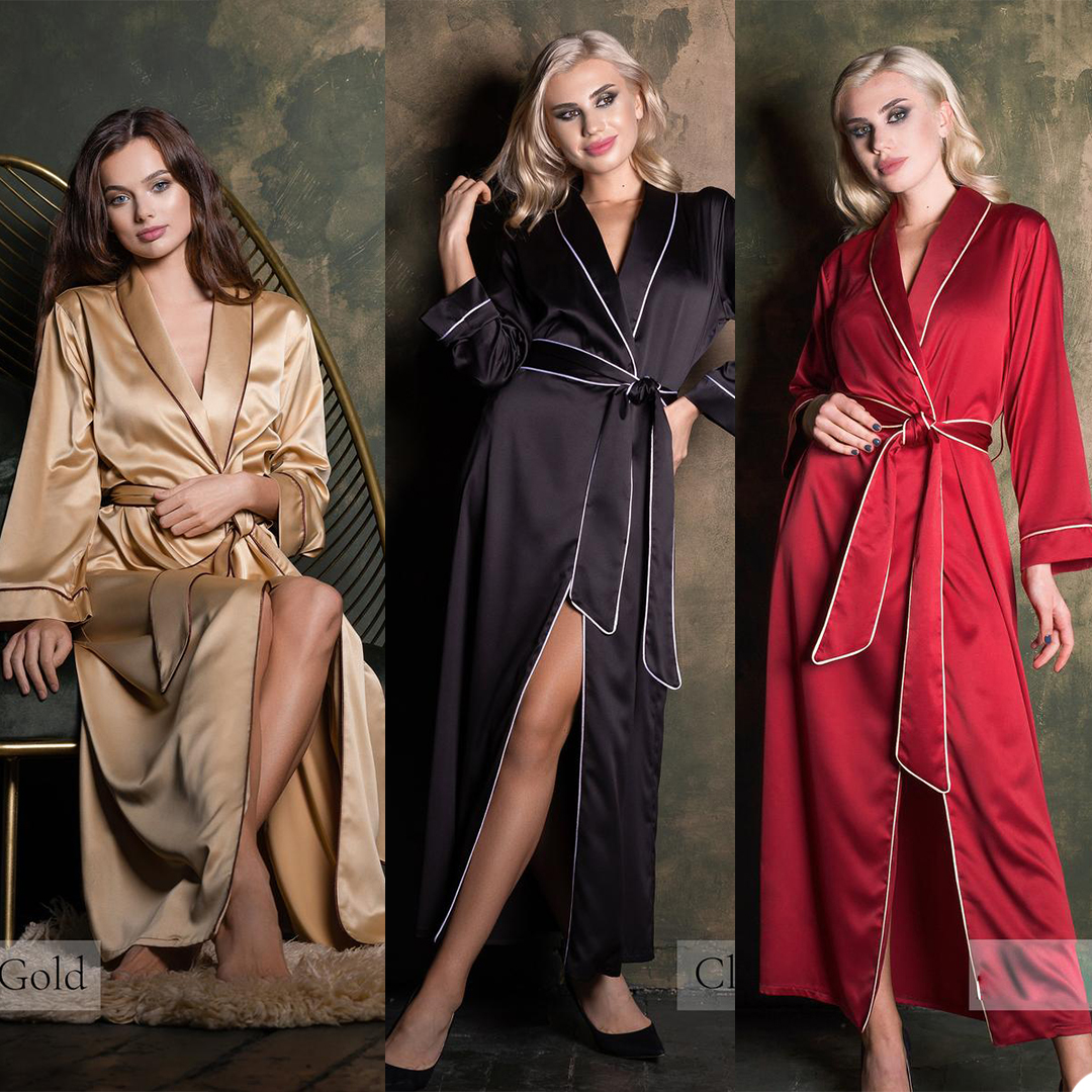Sexy Elegant Robe Nightwear Lace Long Sleeve Ankle Length With Belt Women Nightgown For Photo Party Lingerie Pajamas