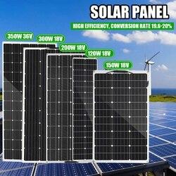 350W-120W półelastyczny Panel słoneczny 18V 36V USB ogniwo słoneczne DIY moduł energia słońca złącze zewnętrzne ładowarka do łodzi RV