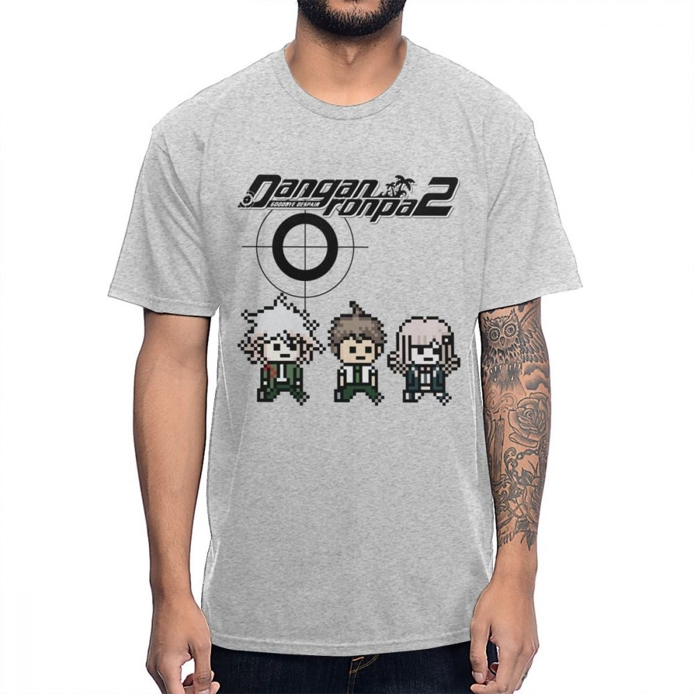 Natural Cotton Classic Round Collar 8bit Danganronpa T Shirt Interesting Custom For Man Tee Shirt Guys Punk Designer Streetwear