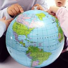 38cm Inflatable Globe World Earth Ocean Map Ball Geography Learning Educational Beach Ball Kids Geography Educational Supplies