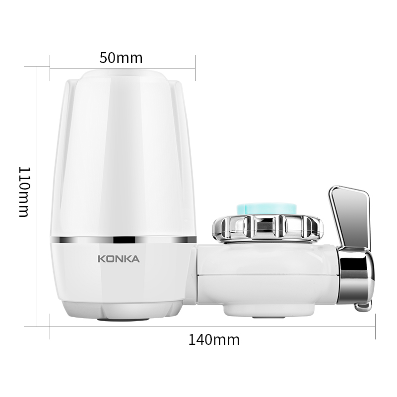 KONKA Mini Tap Water Purifier Kitchen Faucet Washable Ceramic Percolator Water Filter Filtro Rust Bacteria Removal Replacement 4