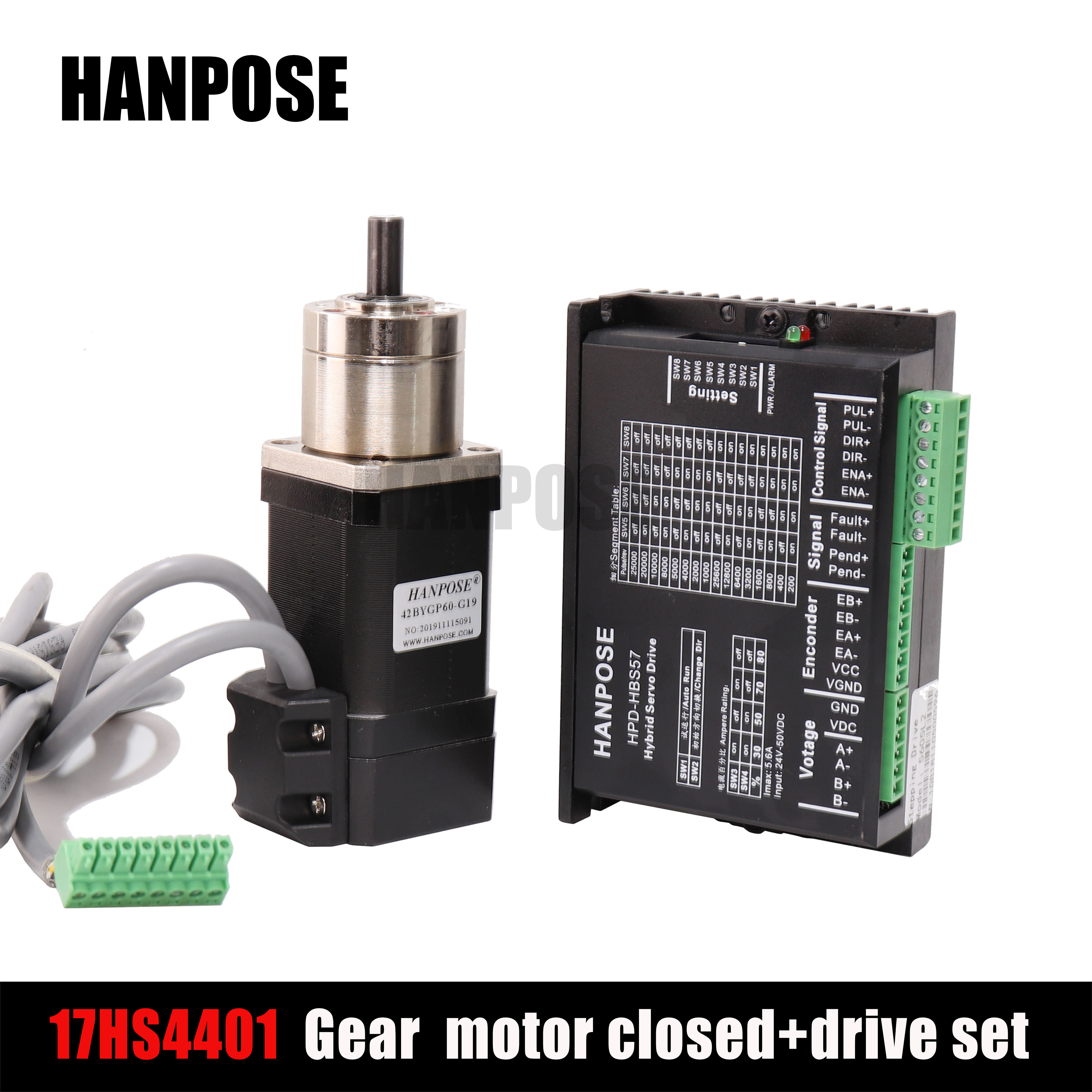 17hs4401 stepper motor deceleration closed-loop + drive 42 closed-loop motor body length 42x40mm1.5A <font><b>NEMA17</b></font> PG-stepper motor image