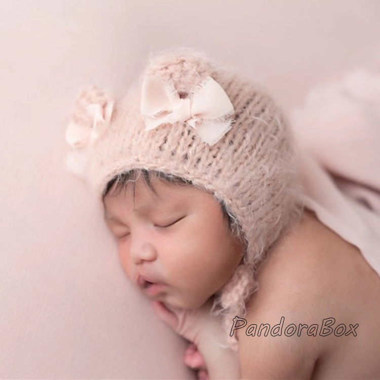 Bebê recém-nascido fotografia adereços bebê menina mohair