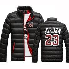 2020 jordan 23 зимняя куртка с индивидуальным принтом, мужские толстовки, Толстая куртка, парка, приталенная, с длинным рукавом, топы для отдыха, од...