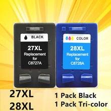 27XL 28XL C8727A сменный картридж для принтера для hp 27 28 XL для струйного принтера hp Deskjet 450 450CI 5550 3420 3520 3550 3650 3740 3845 принтер