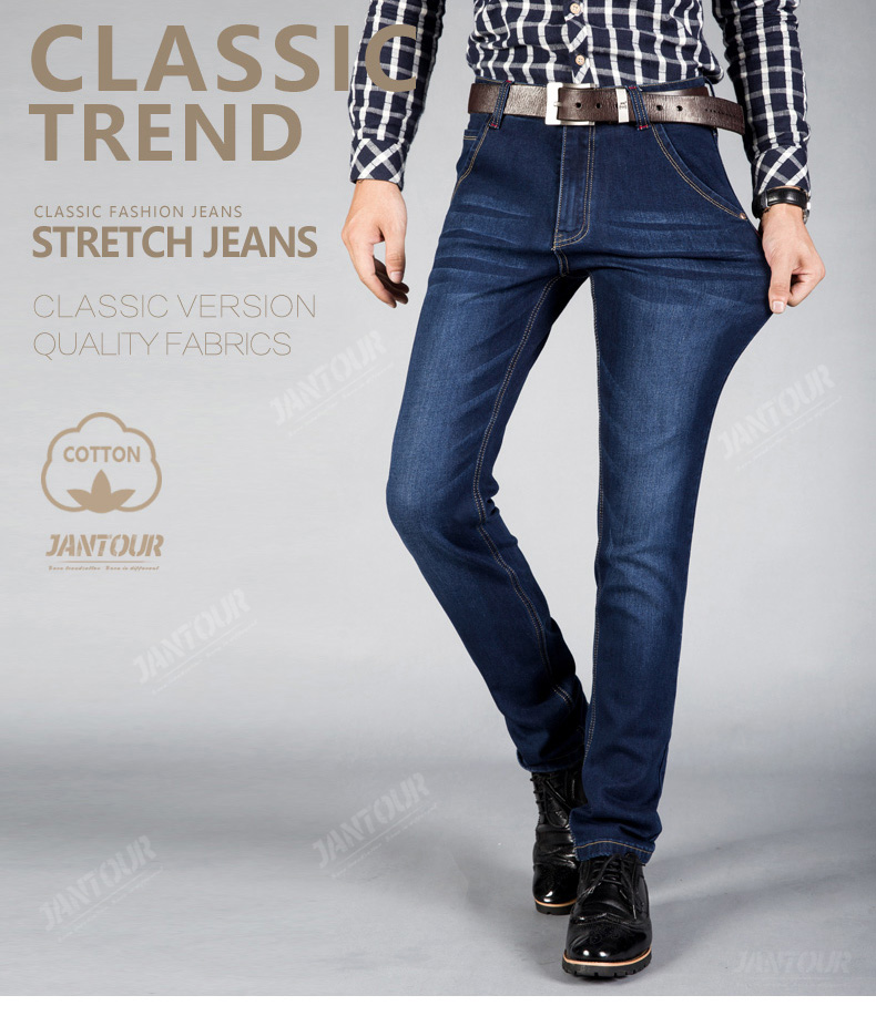 2020 New cotton Jeans Men High Quality Famous Brand Denim trousers soft mens pants spring jean fashion Large Big size 40 42 44
