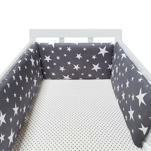 Pillows Bumper Cushion Cot-Protector Crib Room-Decor Baby Bed Around Stars-Design Newborns