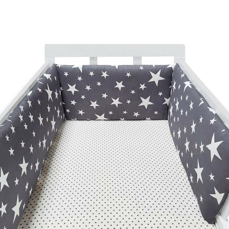 Baby kindergarten Nordic Sterne Design Baby Bett Verdicken Stoßstange einteiliges Krippe Um Kissen Bett Protector Kissen Neugeborene Zimmer decor