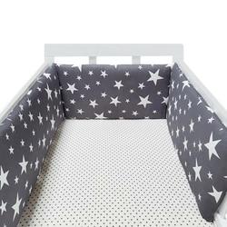 baby nursery Nordic Stars Design Baby Bed Thicken Bumper One-piece Crib Around Cushion Cot Protector Pillows Newborns Room Decor
