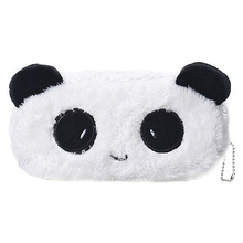 Cute Panda Plush Pencil Case Lovely Animal Makeup Bag Pen Bag for Kids Gifts Stationery Pouch School Supplies Girls Coin Purse(China)