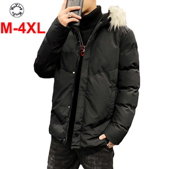 School student cotton parkas young men cotton coat boy's new fashion jacket for youth M to 4XL