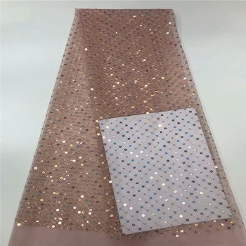 2020 New Design French Tulle Lace Swiss Voile Lace in Switzerland Nigeria sequins Lace Fabric African Wedding Dress Material