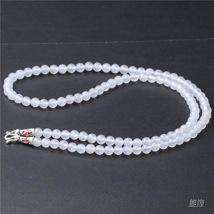 Chun Yuan Agate Amulet Chain Buddhist Prayer Bead Amulet Necklace Lanyard Men And Women Pendant Guardian Angel Pixiu Lanyard Lan