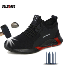 SOLUDOSO Breathable Safety Shoes Men Summer Lightweight Work
