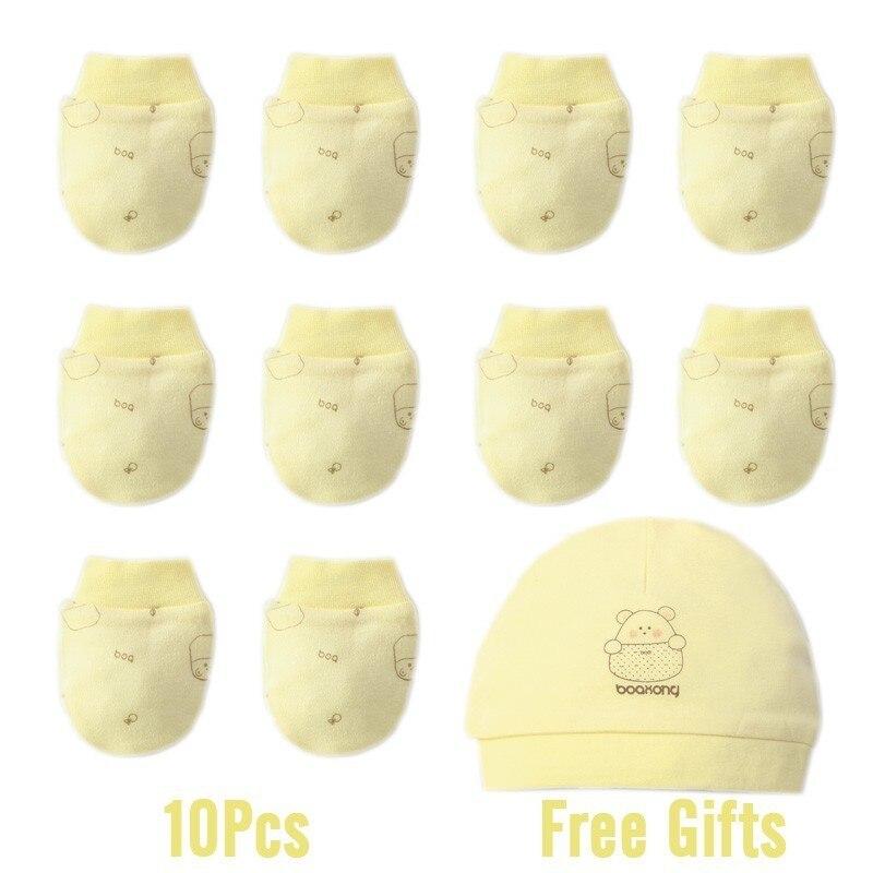 Зима осень хлопок детские перчатки неонатальные перчатки удобные дышащие детские перчатки новорожденная детская рукавица - Цвет: 5 Pairs 9