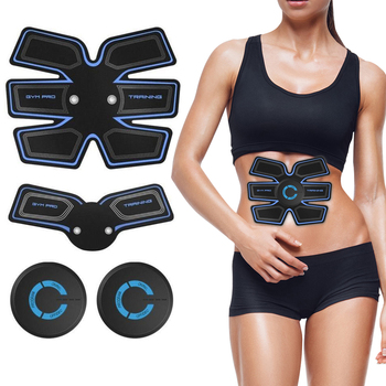 EMS Wireless Muscle Stimulator Abdominal Exerciser Ems Training Apparatus Abs Stimulator Body Slimming Massager for Weight Loss rechargable ems abdominal muscle stimulator exerciser trainer device training weight loss slimming smart massager machine