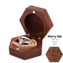 Деревянная коробка для изготовления колец Свадебный держатель