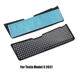 Image 1 - Auto Zubehör für Tesla Modell 3 2021 Lufteinlass Vent Abdeckung Luftfilter Anti Blocking Flow Vent Abdeckung Trim intake Schutz