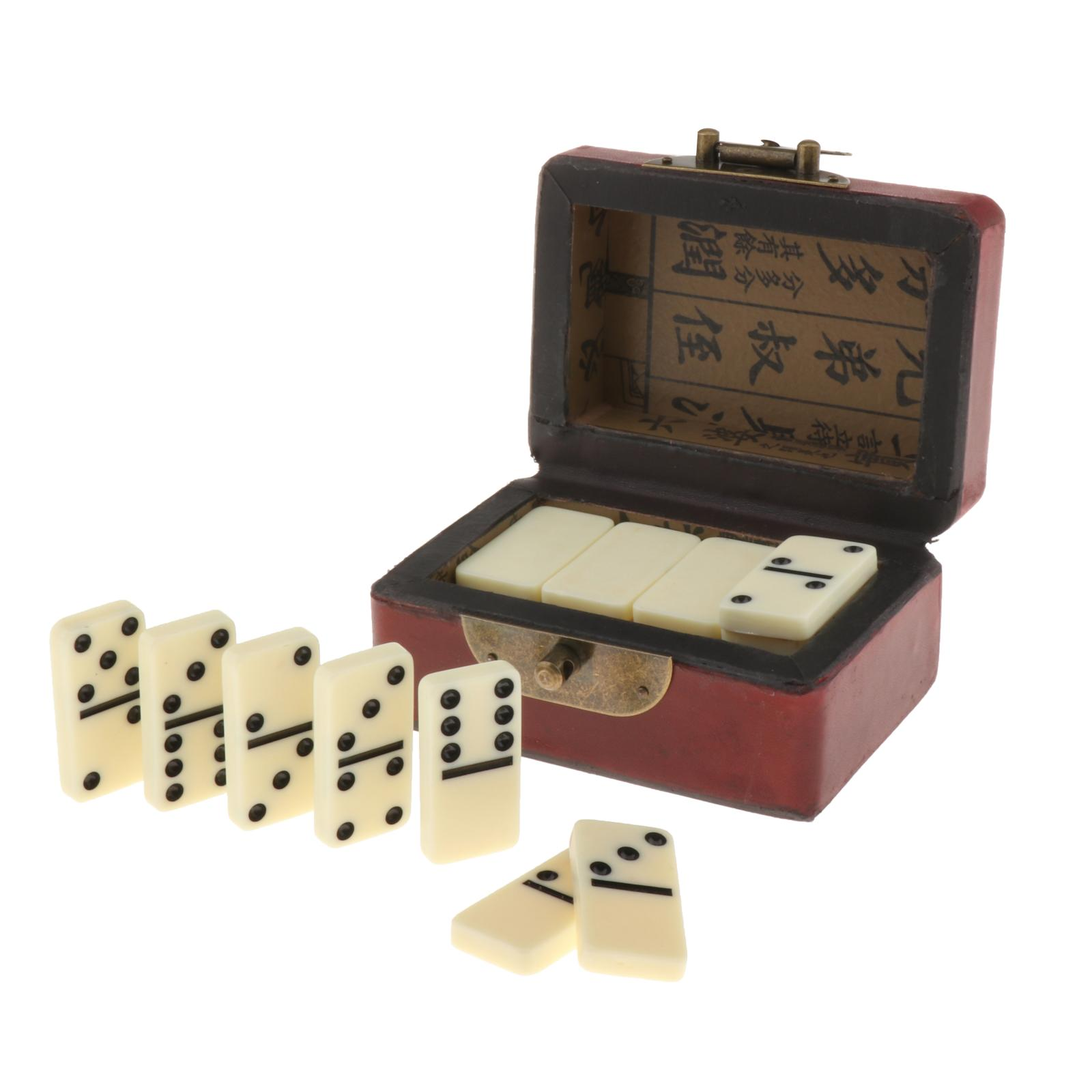 Double Six 28 Dominoes Set With Storage Box Traditional Classic Entertainment Recreational Party Table Board Games Toy