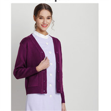 Nurse sweater cardigan coat long sleeve female nurse winter autumn hospital work clothes