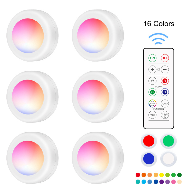 Creative 16 Color Remote Control Night Light Multi-Functional Colorful Atmosphere Light Cabinet Light Living Room Corridor Light