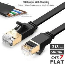 Сетевой Ethernet-Кабель Cat 7, белый/черный, совместимый патч-корд для ноутбука, маршрутизатора, Интернет-кабеля Ethernet