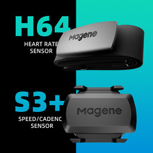 Cycling Magene Mover H64 S3+ ANT+ USB c406 Dual Mode Speed Cadence Heart Rate Sensor Bicycle Computer Bike Wahoo Garmin XOSS