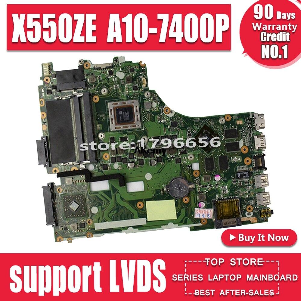 X550ZE Moederbord A10-7400U Lvds Voor Asus X550ZE X550Z K550Z Laptop Moederbord X550ZE Moederbord X550ZE Moederbord Test Ok