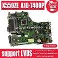 X550ZE Motherboard A10-7400U LVDS For ASUS X550ZE X550Z K550Z Laptop Motherboard X550ZE Mainboard X550ZE Motherboard Test Ok