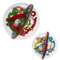 1Pc 3D Ball Maze Puzzle Labyrinth Magical Intellect Maze Ball Perplexus Ball Intelligence Logic Ability Training Game Toy as Gif