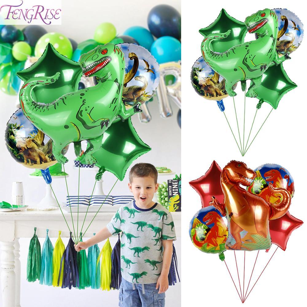 FENGRISE Jurassic World Dinosaur Foil Balloons Baby Birthday Party Decoration Dinosaur Party Dino Theme Jungle Birthday Decor