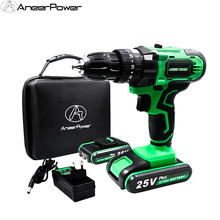 цена на 25V Hand Electric Drill Impact Drill Battery Cordless Electric Hammer Drill Electric Screwdriver Power Tools & Magnet Function
