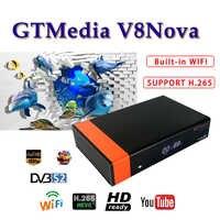 Récepteur Satellite récepteur gtmedia V8 nova DVB-S2 H.265 WIFI intégré soutien freesat europe 1 an cccam serveur hd Youtube
