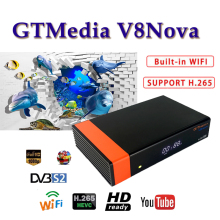 Receptor Satellite receiver gtmedia V8 nova DVB-S2 H.265 Built-in WIFI support freesat europe 1 year cccam server hd Youtube цена и фото