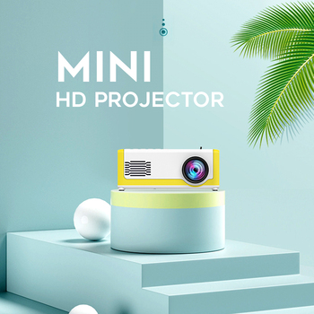 M1 Mini Projector Support 1080P Display AV USB SD Card USB Portable Pocket Beamer Projector for Entertainment Gifts Personal Use