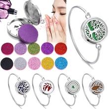 Aromatherapy Bracelet Bangle Perfume Essential Oil Diffuser Locket Bracelets Tree of Life 316L Stainless Steel Diffuser Bracelet