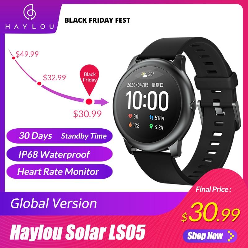 Sleep-Monitor Smart-Watch Ios Android Metal Haylou Solar Ip68 Waterproof Sport Global-Version