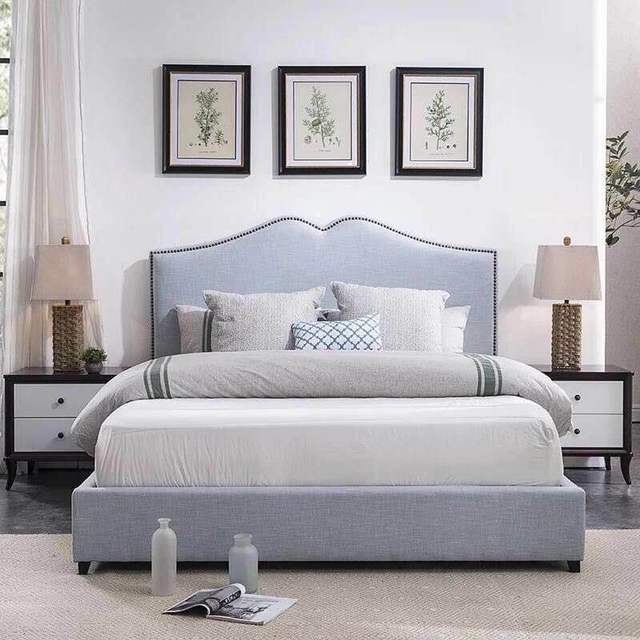 Bedroom Furniture Modern Fabric Bed Hotel Bed 2