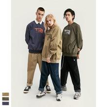 Cooo Coll Men Women Windbreaker Oversize map kanye west printing Streetwear trench Hip Hop Crewneck Casual Clothing long coat