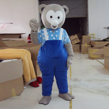 mascot Blue bear cartoon costume adult size ball