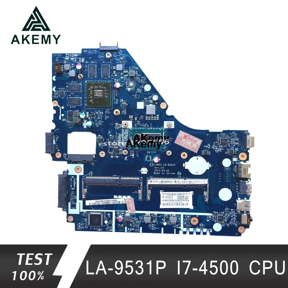 V5WE2 LA-9531P Mainboard For Acer E1-572G E1-572 V5-561G Motherboard LA-9531P I7-4500 CPU Test Work 100% Original