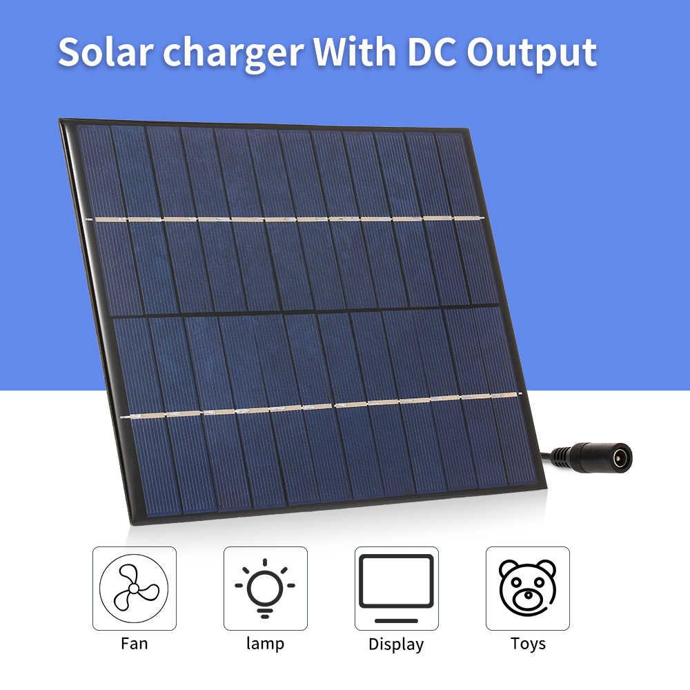 لوحة شاحن بالطاقة الشمسية مع 5521 تيار مستمر الناتج المدمجة ألواح شمسية متعدد الكريستالات/ البلورات ل مصباح حديقة المضخة الشمسية في الهواء الطلق